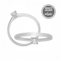 Solitario de oro blanco y diamante - 317-01324