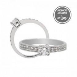 Anillo de oro blanco y diamantes - 247-00860