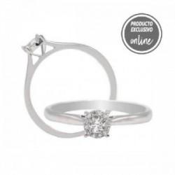 Anillo de oro blanco y diamantes - 247-00948