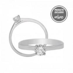 Solitario de oro blanco y diamante - 317-01328