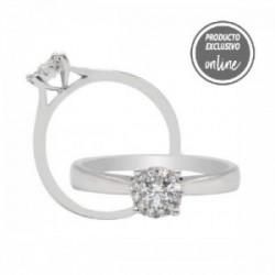 Anillo de oro blanco y diamantes - 247-00949