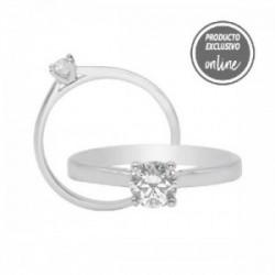 Solitario de oro blanco y diamante - 317-01329