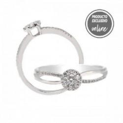 Anillo de oro blanco y diamantes - 297-01320