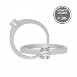 Solitario de oro blanco y diamante - 317-00406