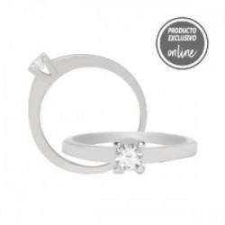 Solitario de oro blanco y diamante - 317-00158
