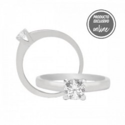 Solitario de oro blanco y diamante - 317-00159