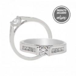 Anillo de oro blanco y diamantes - 317-00648