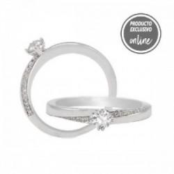 Anillo de oro blanco de 18 quilates y diamantes - 317-00918