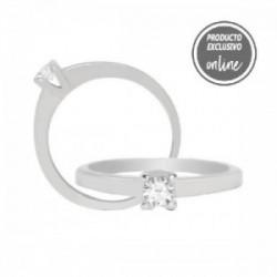Solitario de oro blanco de 18 quilates y diamante - 317-00382