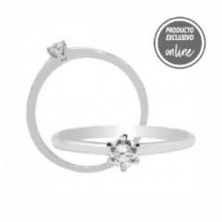 Solitario de oro blanco y diamante - 317-01302