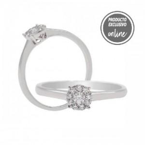 Anillo de oro blanco de 18 quilates y diamantes - 470-00003