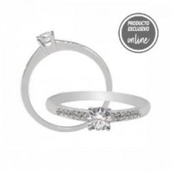 Anillo de oro blanco y diamantes - 470-00547