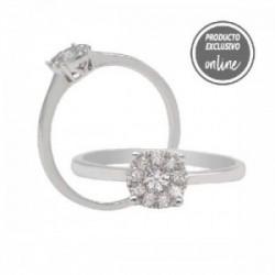 Anillo de oro blanco y diamantes - 470-00005