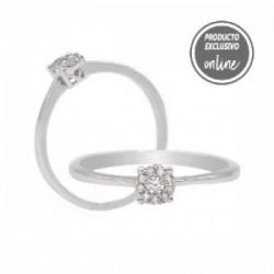 Anell d´or blanc de 18 quirats i diamants - 470-00065