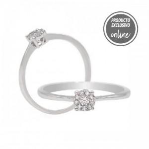 Anillo de oro blanco de 18 quilates y diamantes - 470-00065
